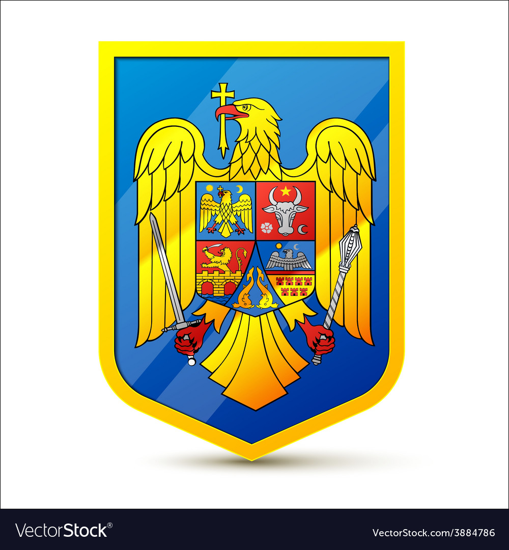 Coat of arms of romania vector | Price: 1 Credit (USD $1)