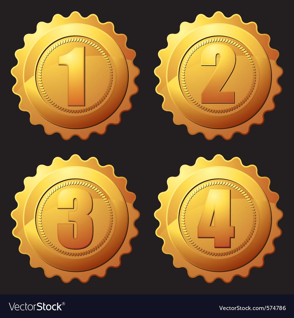 Gold rank medallion vector   Price: 1 Credit (USD $1)
