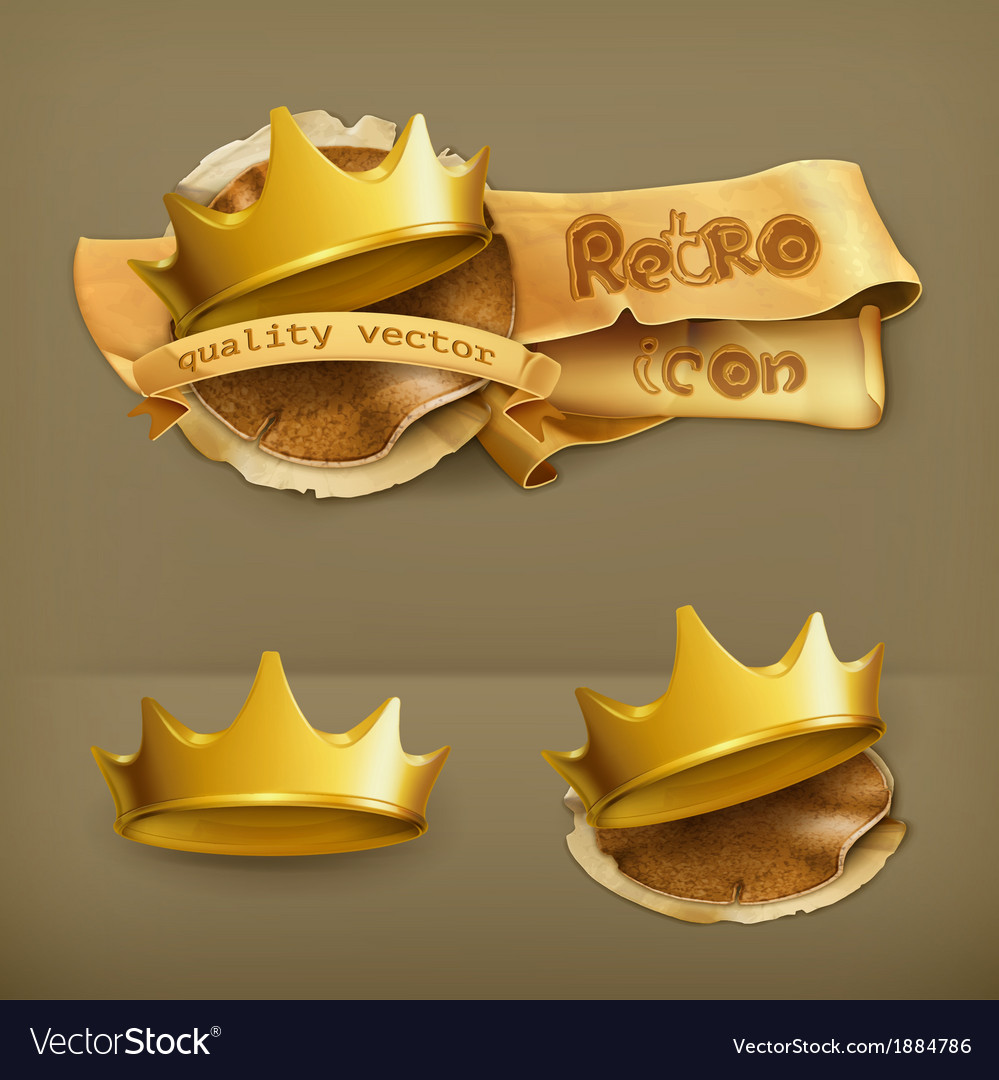 Golden crown icon vector | Price: 1 Credit (USD $1)