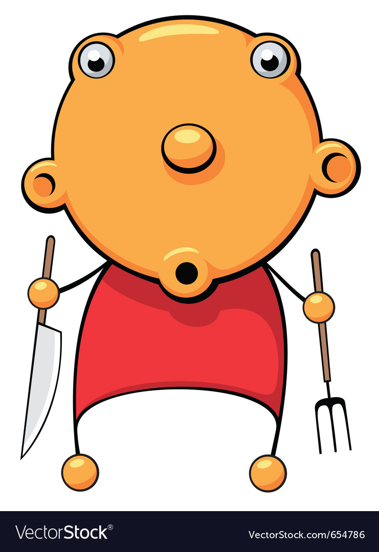 Hungry baby surprized vector | Price: 3 Credit (USD $3)