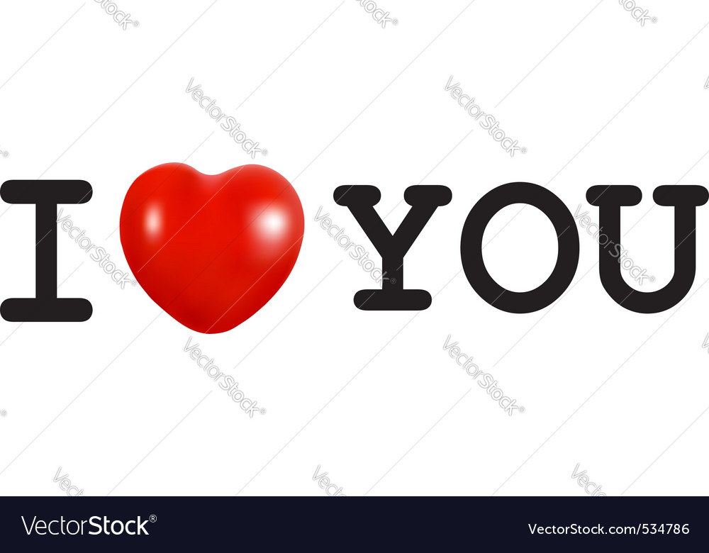 I love you concept with heart vector | Price: 1 Credit (USD $1)