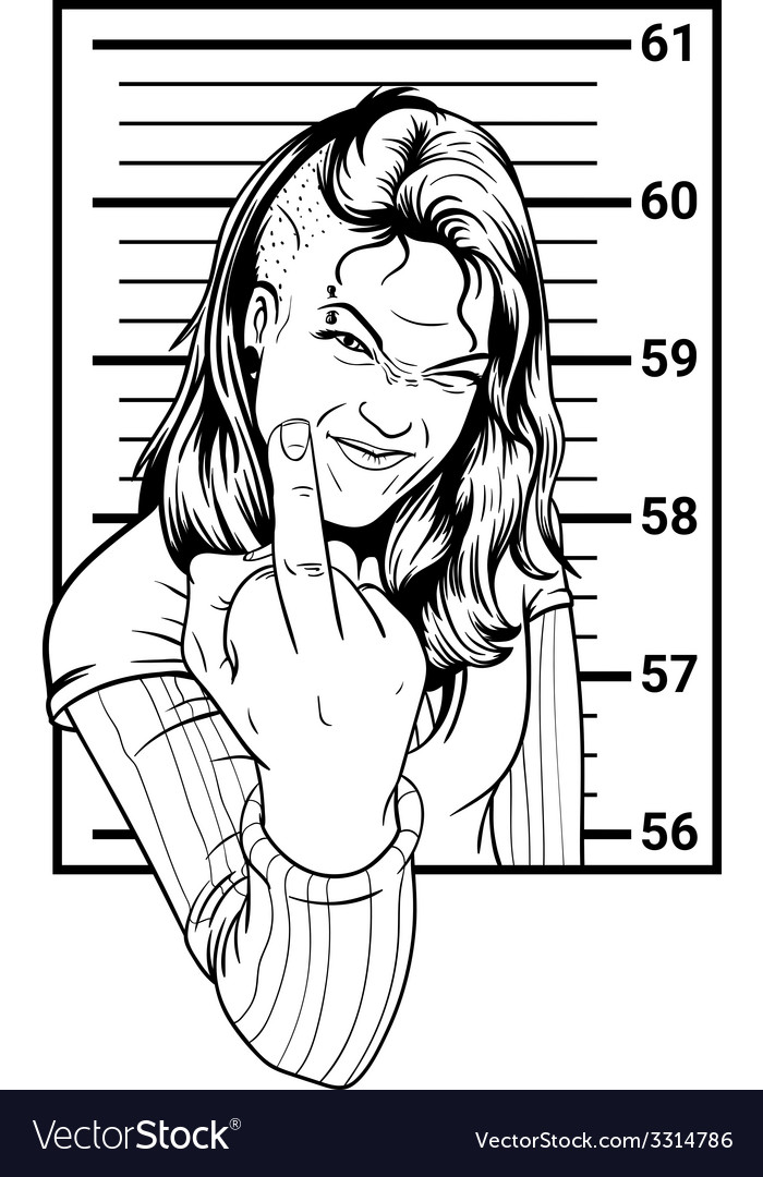Inmate girl anarchist vector | Price: 1 Credit (USD $1)