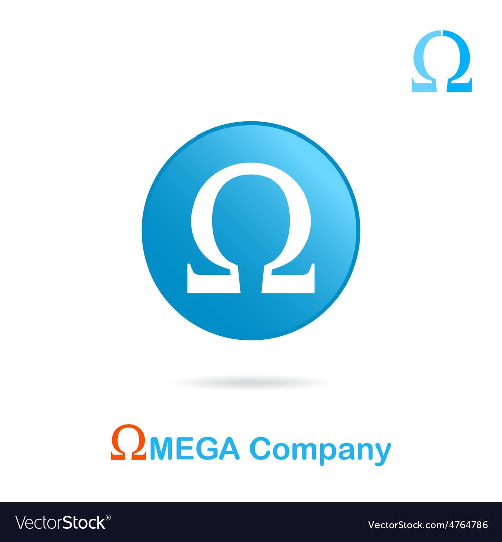 Omega letter logo concept vector | Price: 1 Credit (USD $1)