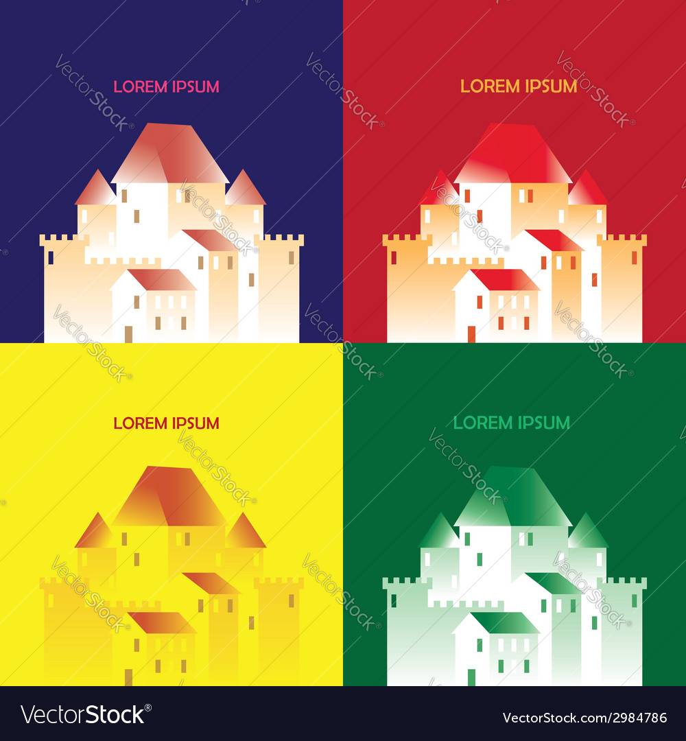 Pop art castle vector | Price: 1 Credit (USD $1)