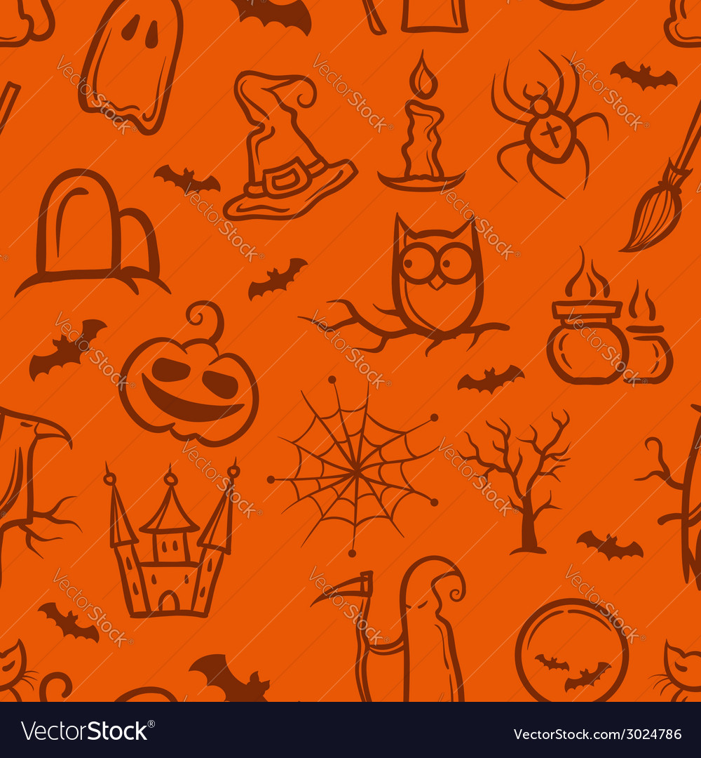 Retro graphical halloween pattern vector | Price: 1 Credit (USD $1)