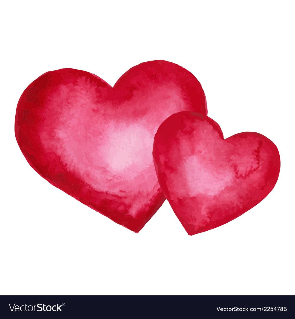 Watercolor heart design element vector | Price: 1 Credit (USD $1)