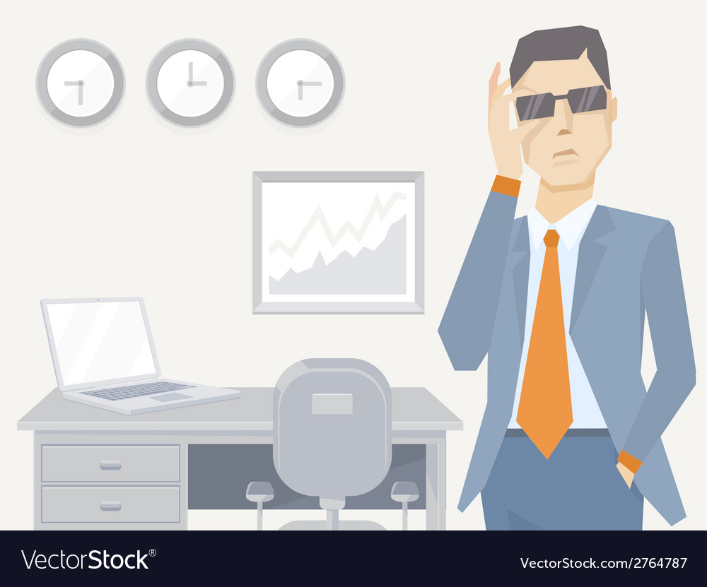 A portrait of analyst man in a jacket han vector   Price: 1 Credit (USD $1)