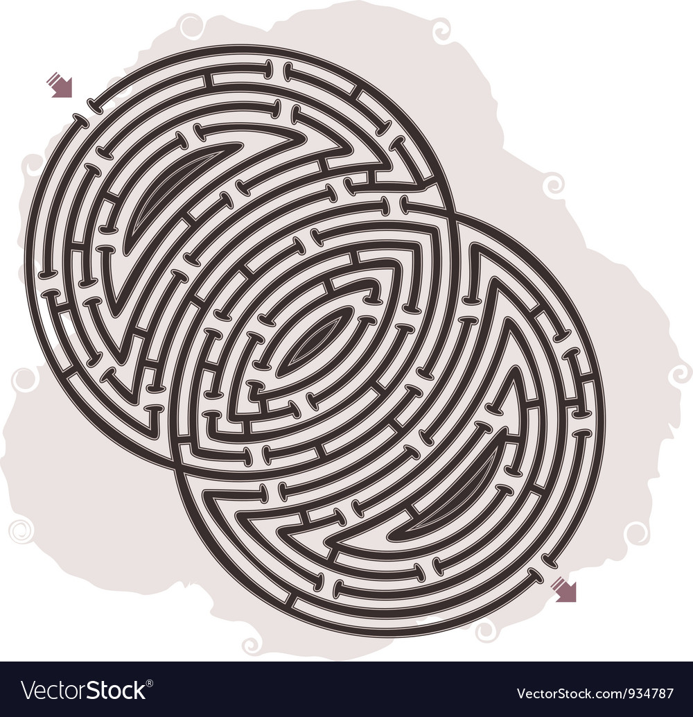 Abstract maze vector | Price: 1 Credit (USD $1)