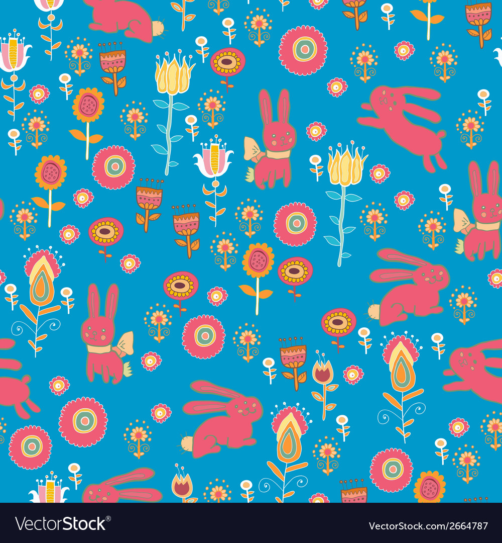 Bright cartoon pattern with animals vector | Price: 1 Credit (USD $1)