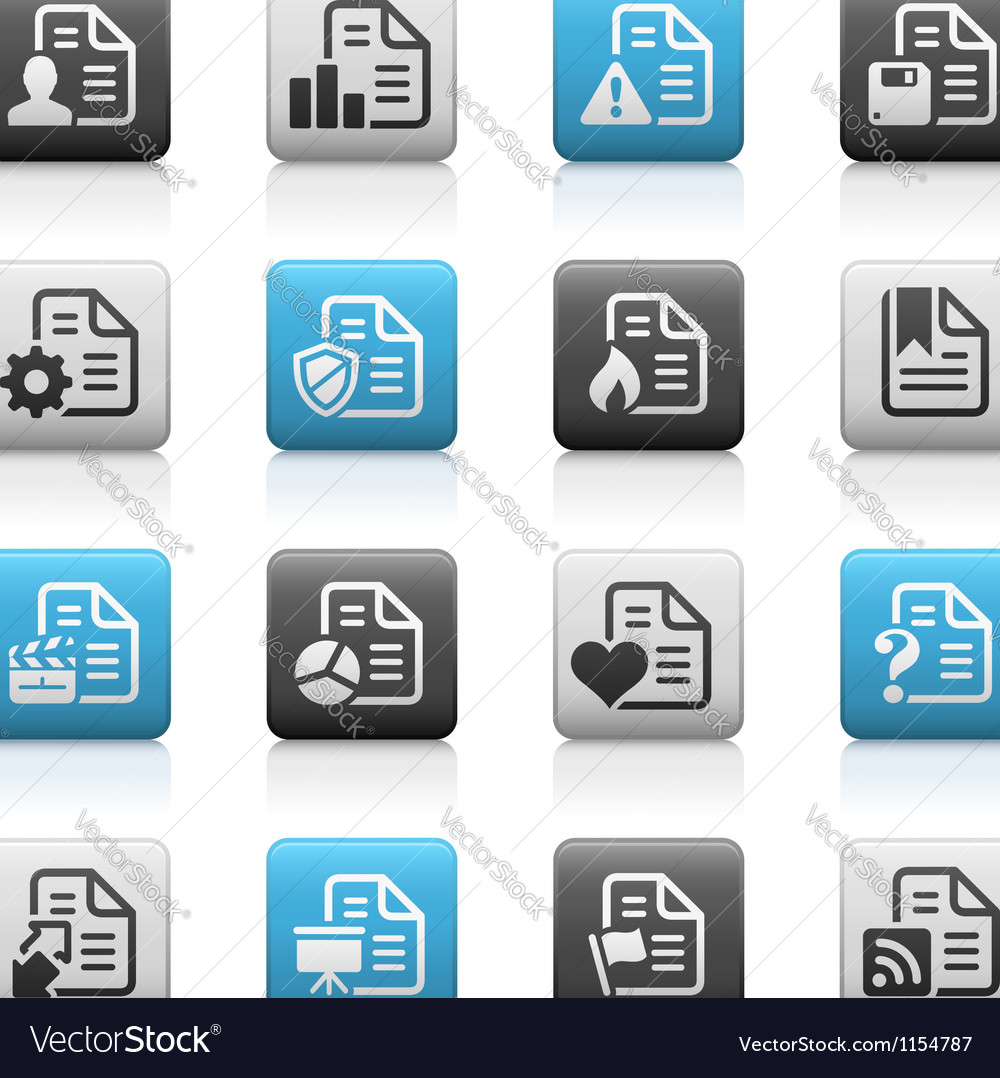 Documents icons 2 matte series vector | Price: 1 Credit (USD $1)