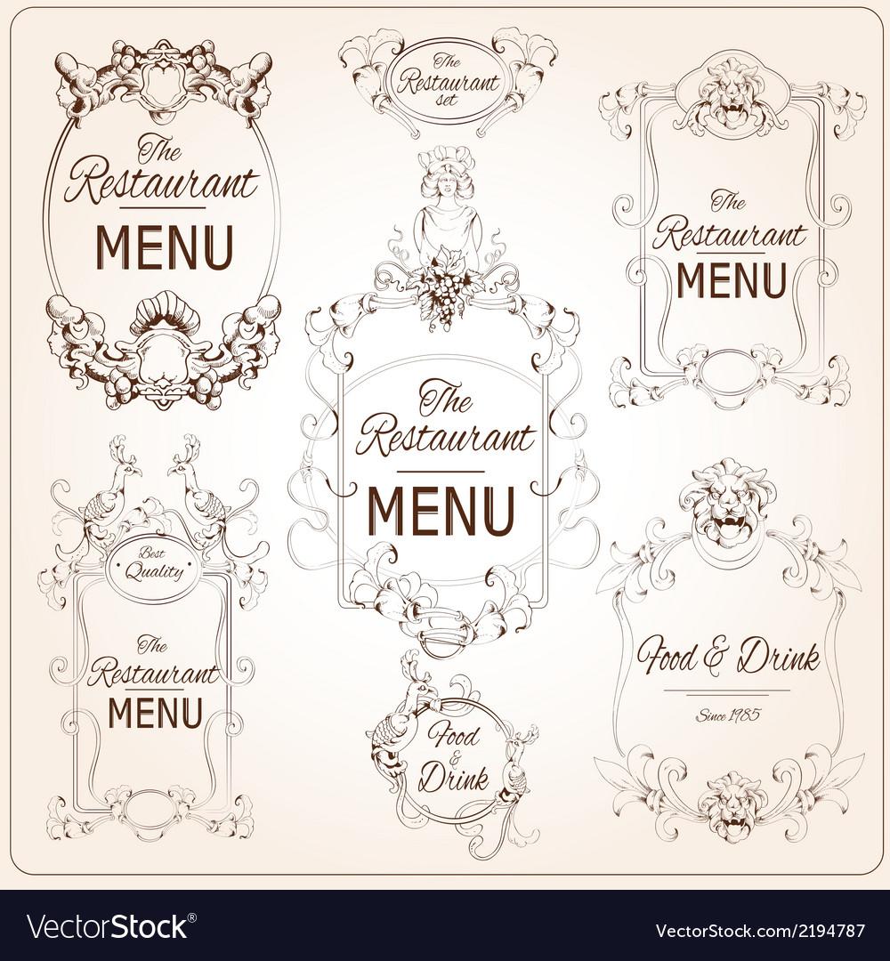 Elegant restaurant labels vector | Price: 1 Credit (USD $1)