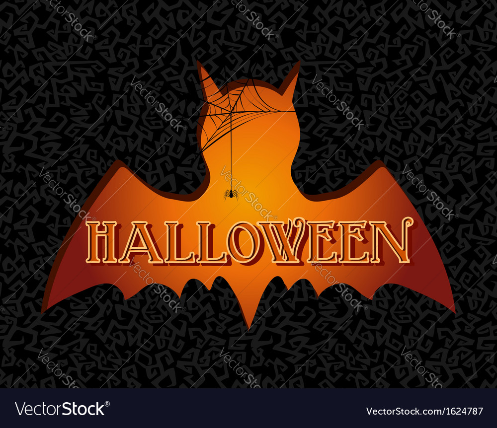 Happy halloween text spooky vampire eps10 file vector | Price: 1 Credit (USD $1)