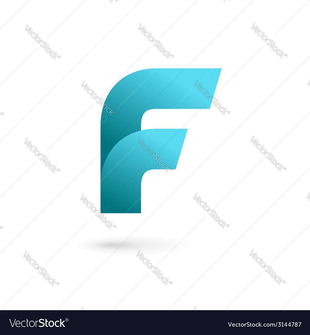 Letter f logo icon design template elements vector | Price: 1 Credit (USD $1)