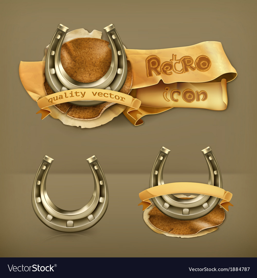Lucky horseshoe icon vector | Price: 1 Credit (USD $1)