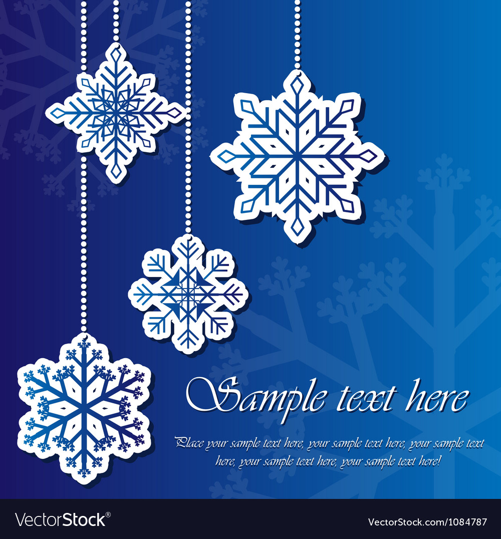 Snowflake sticker background vector | Price: 1 Credit (USD $1)