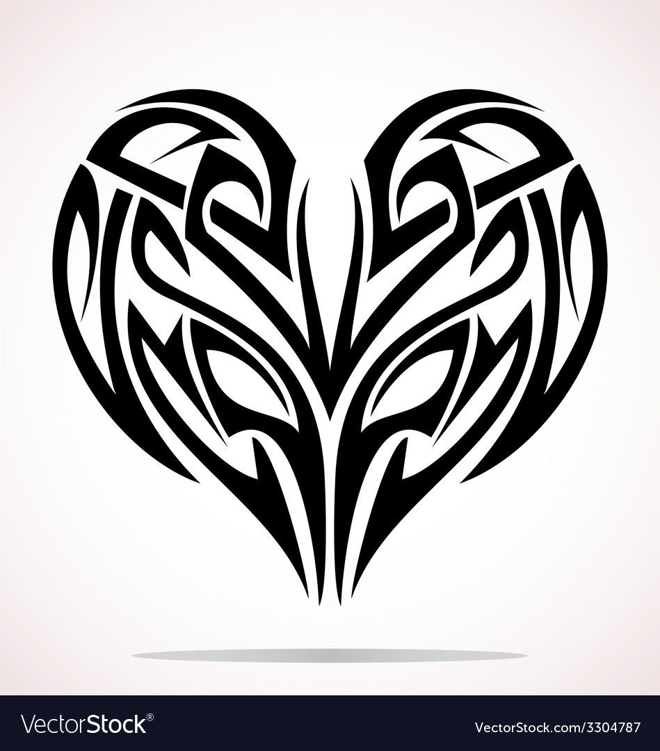 Tribal heart vector | Price: 1 Credit (USD $1)