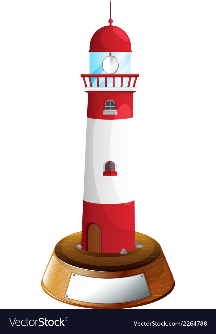 A decorative tower with an empty label vector | Price: 1 Credit (USD $1)
