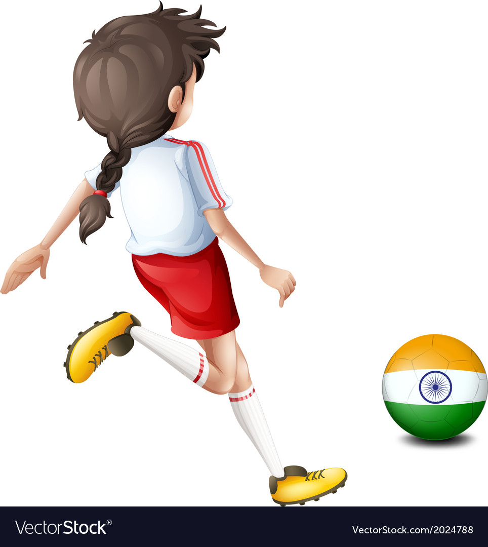A female player from india vector | Price: 1 Credit (USD $1)