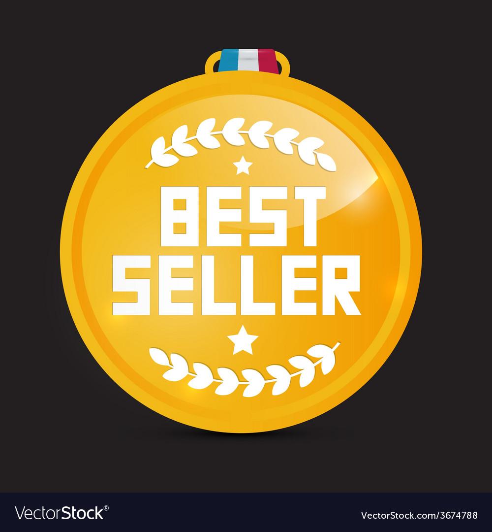 Best seller gold medal vector | Price: 1 Credit (USD $1)