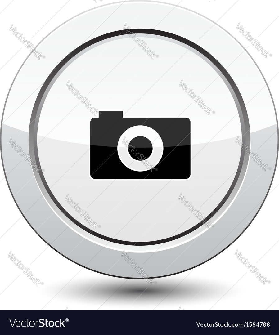 Button with camera vector | Price: 1 Credit (USD $1)