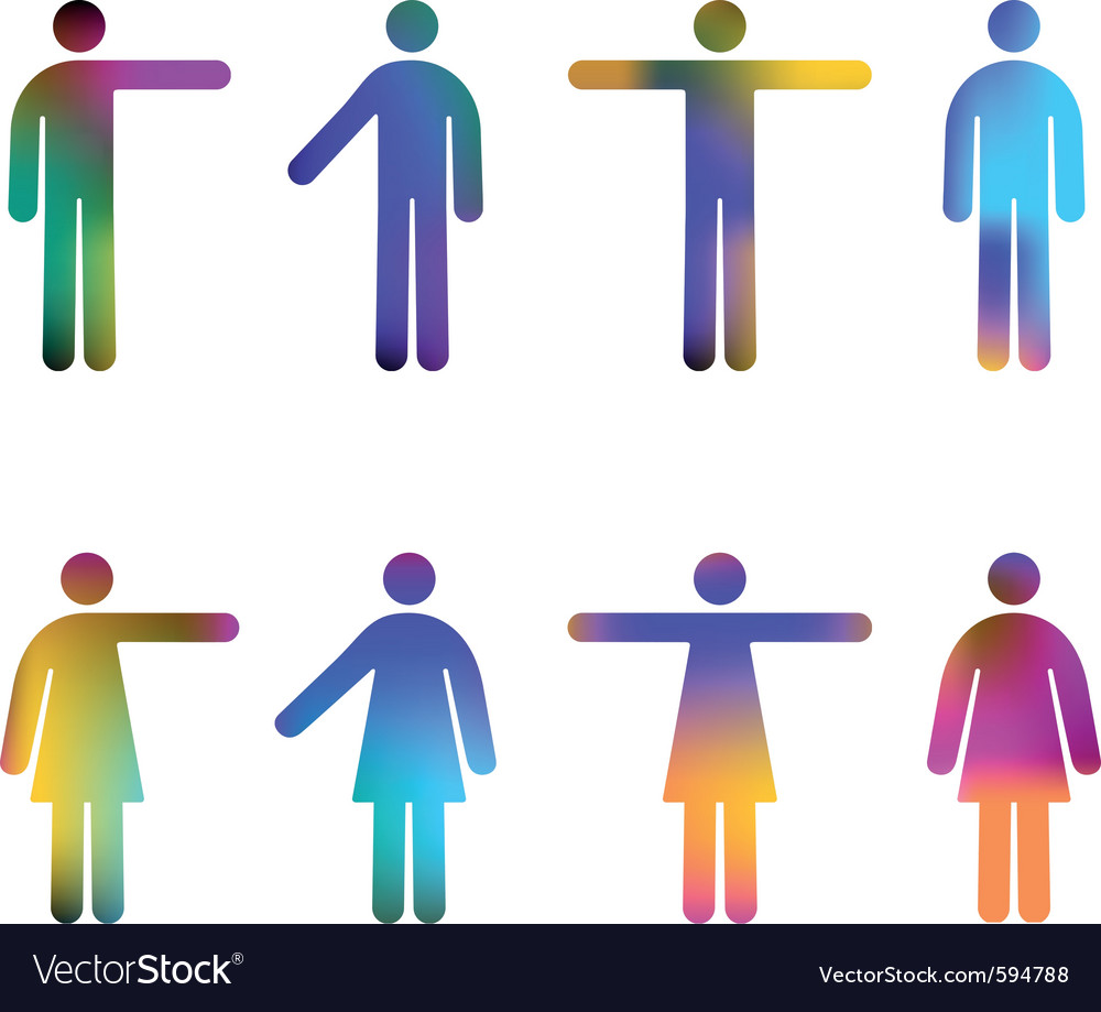 Colour gradient pictograms vector | Price: 1 Credit (USD $1)