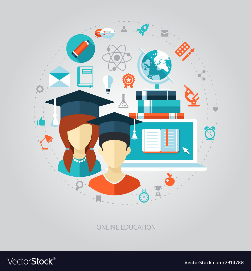 Flat design education composition vector | Price: 1 Credit (USD $1)