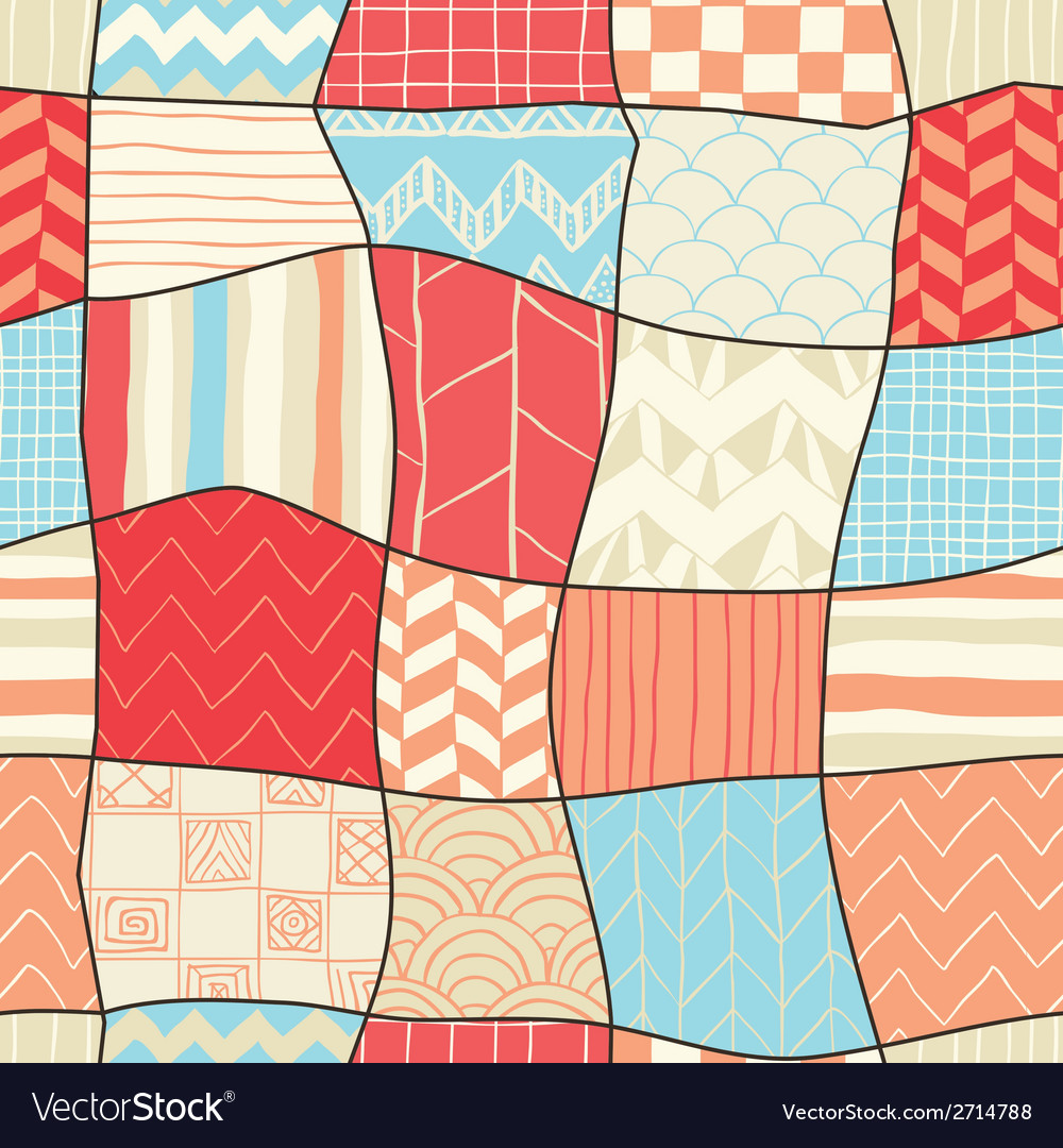 Geometric hand-drawn abstract seamless background vector | Price: 1 Credit (USD $1)