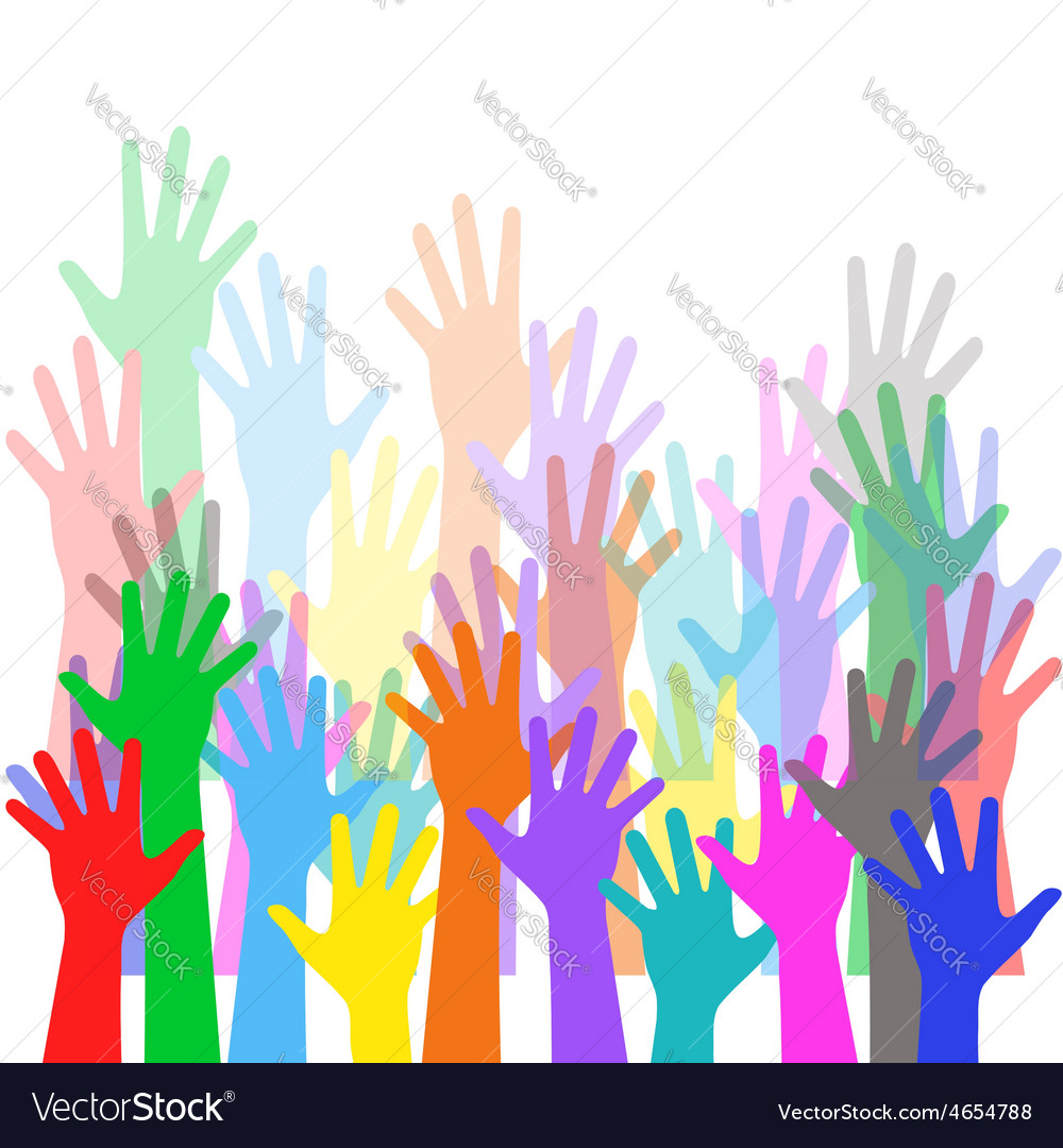 Hands crowd vector | Price: 1 Credit (USD $1)