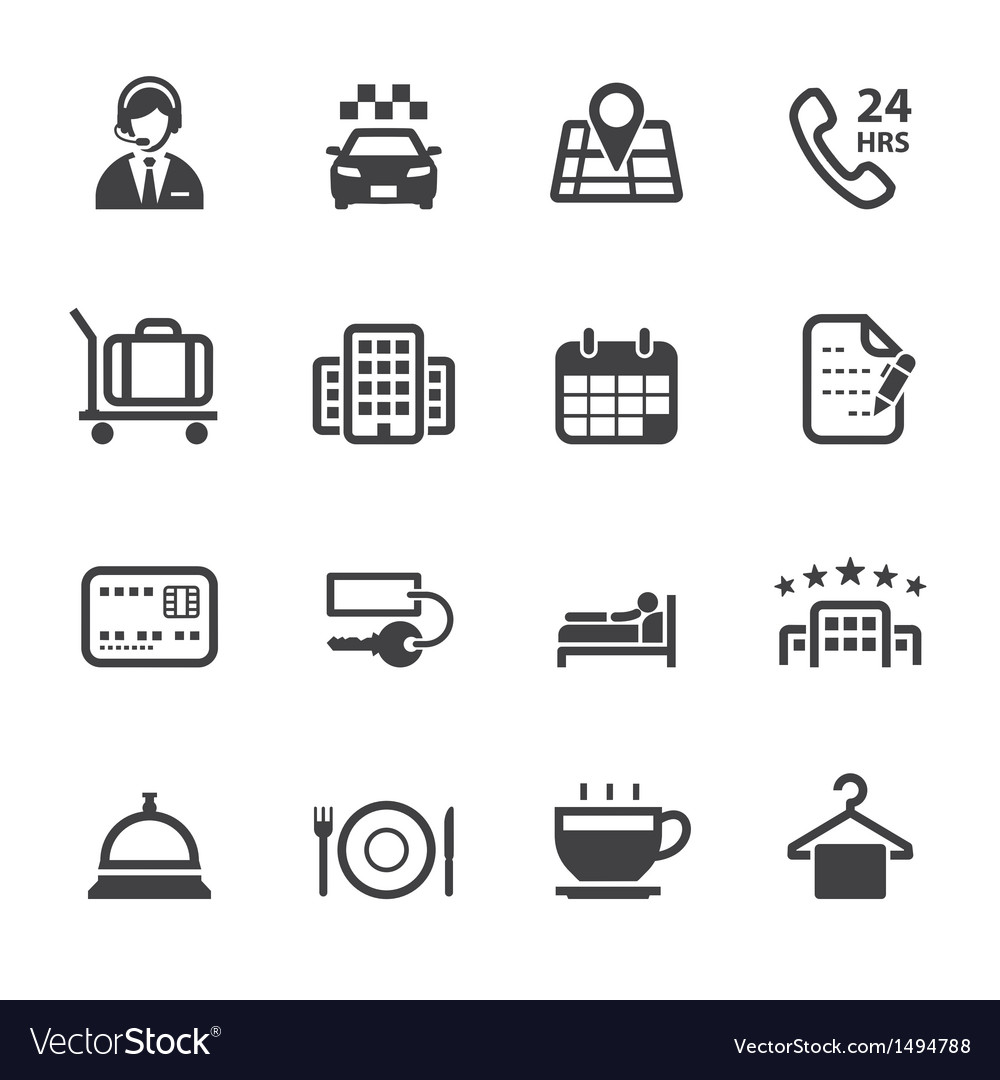 Hotel and hotel services icons vector | Price: 1 Credit (USD $1)