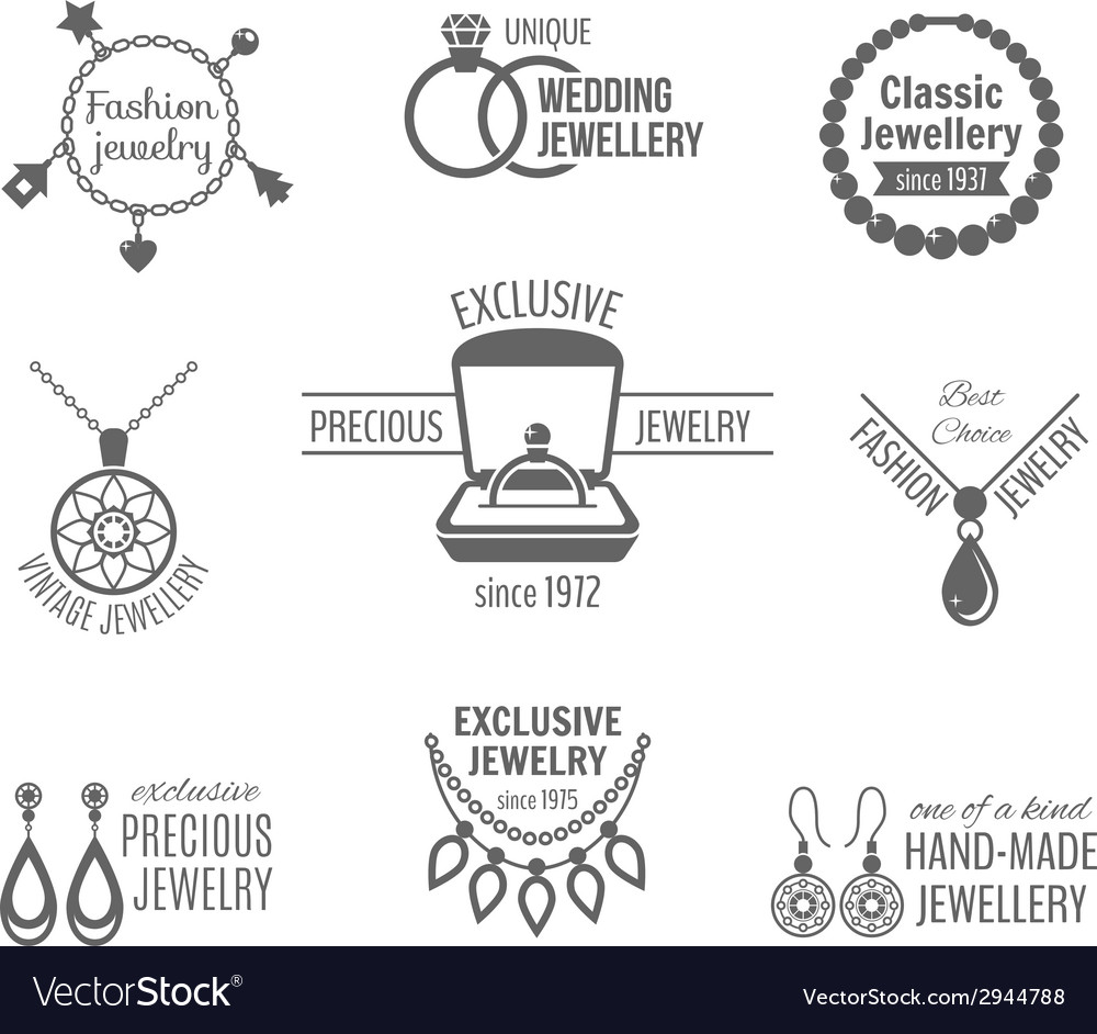Jewelry label set vector | Price: 1 Credit (USD $1)
