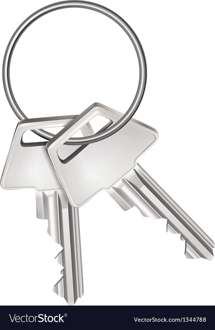 Keys isolated on white vector | Price: 1 Credit (USD $1)