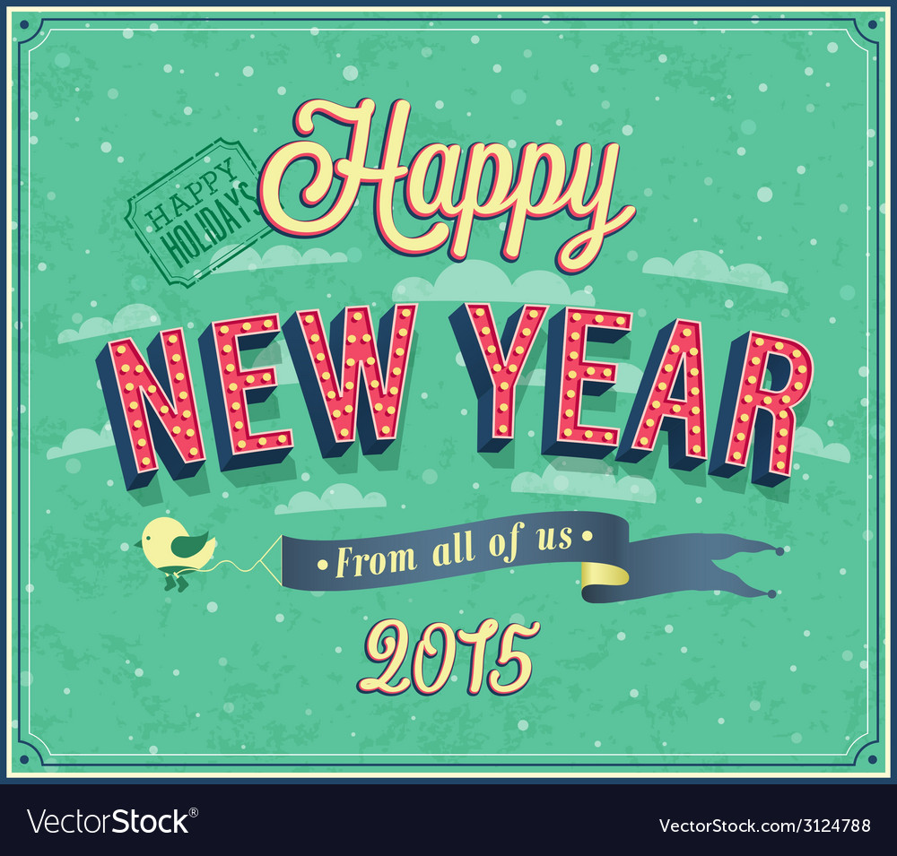 New year typographic design vector | Price: 1 Credit (USD $1)