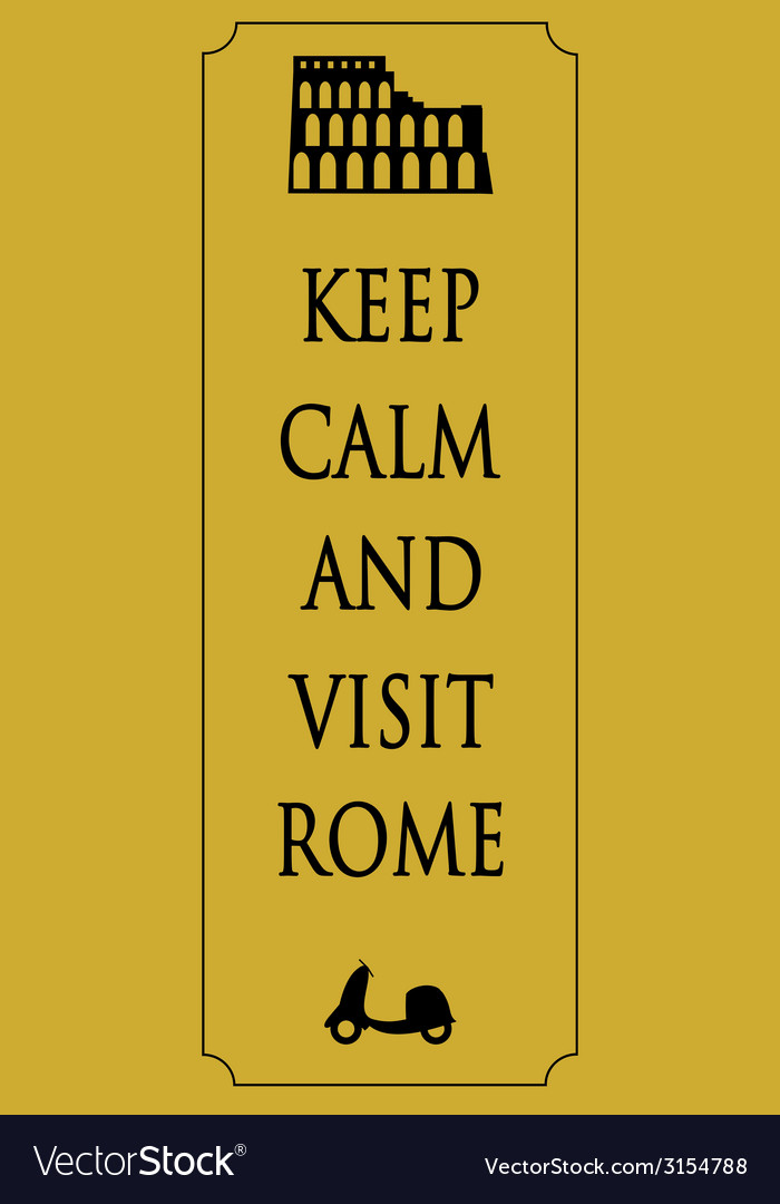 Rome travel card vector | Price: 1 Credit (USD $1)