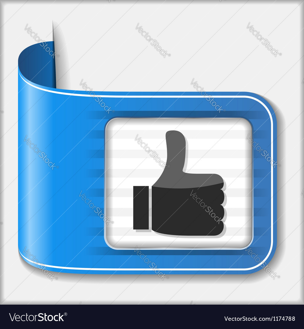 Thumbs up icon vector | Price: 3 Credit (USD $3)