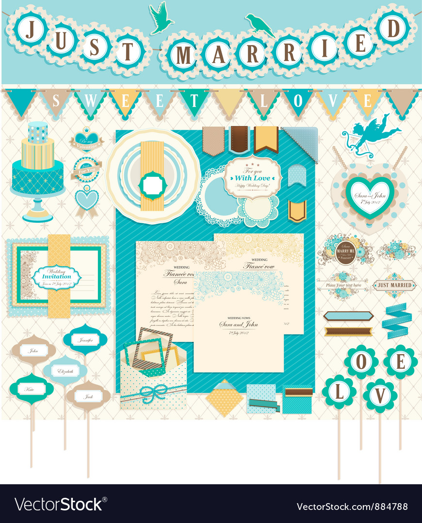 Wedding scrapbooking vector | Price: 3 Credit (USD $3)