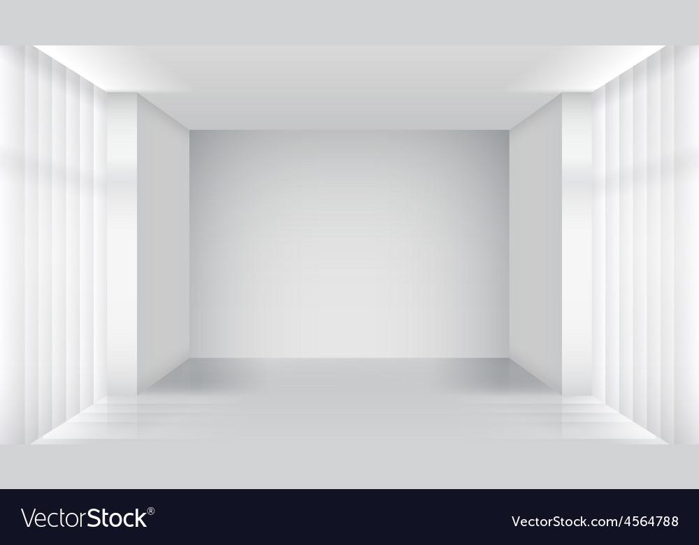 White empty room interior vector | Price: 1 Credit (USD $1)