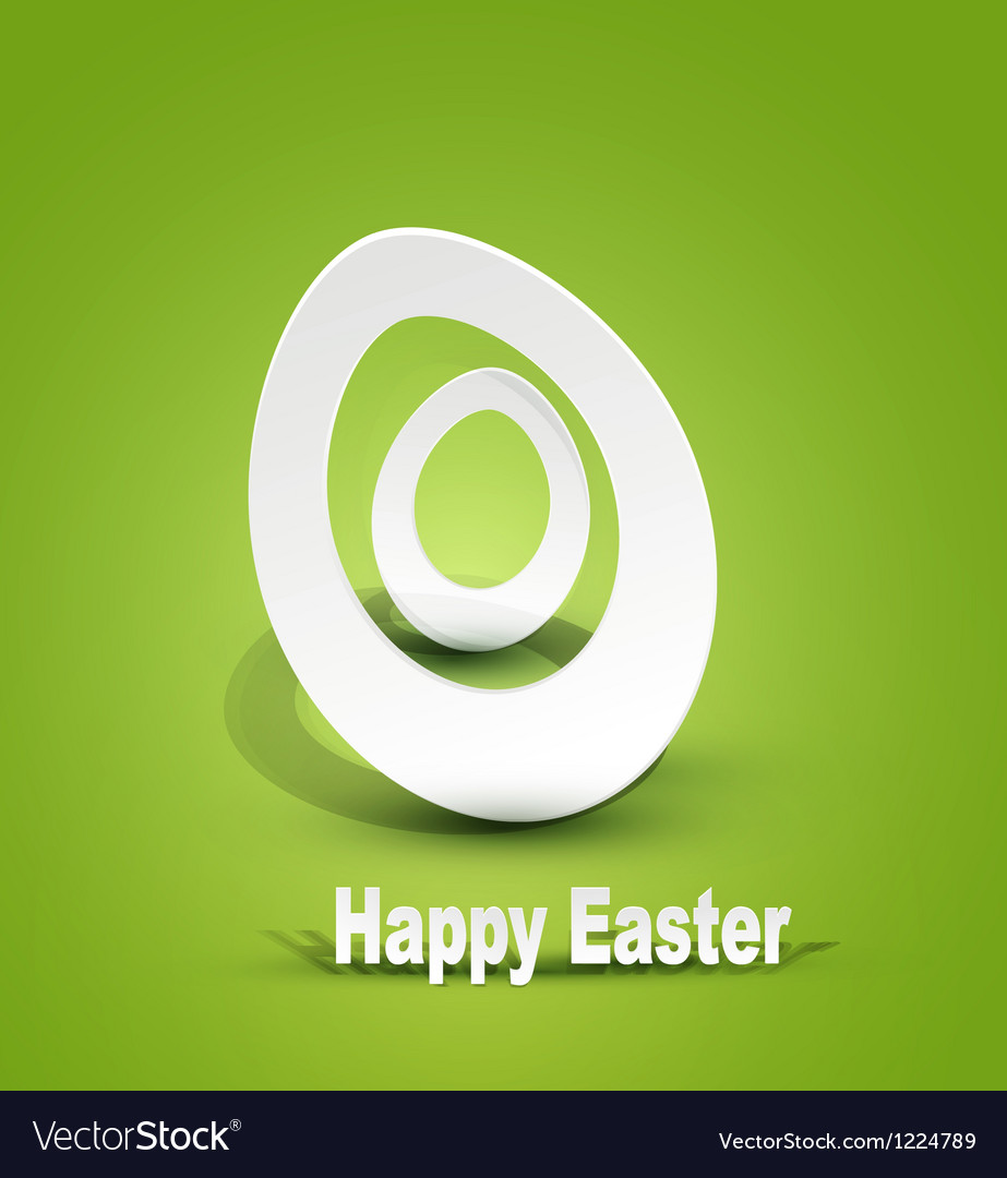 Background with easter egg 3d vector | Price: 1 Credit (USD $1)