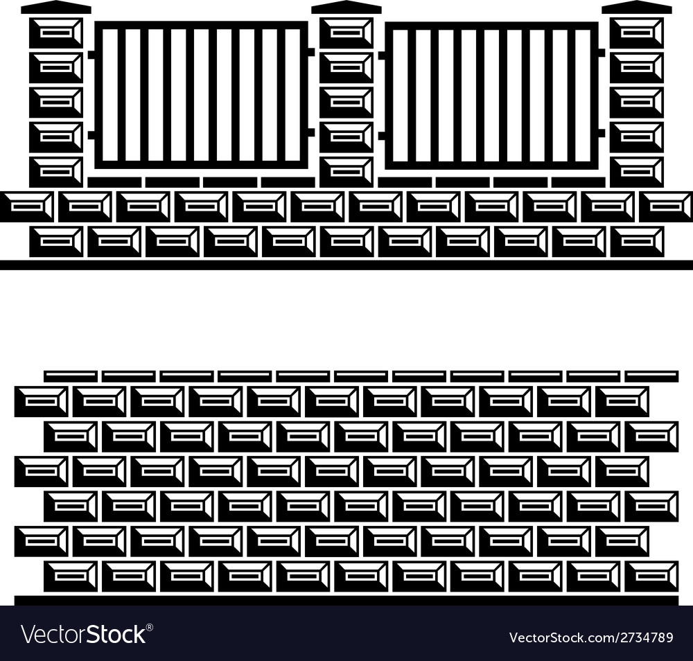 Black decorative brick wall vector | Price: 1 Credit (USD $1)