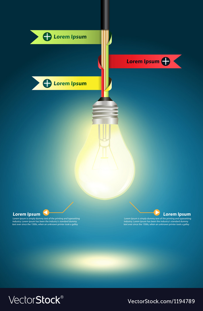 Creative template with light bulb idea vector | Price: 1 Credit (USD $1)
