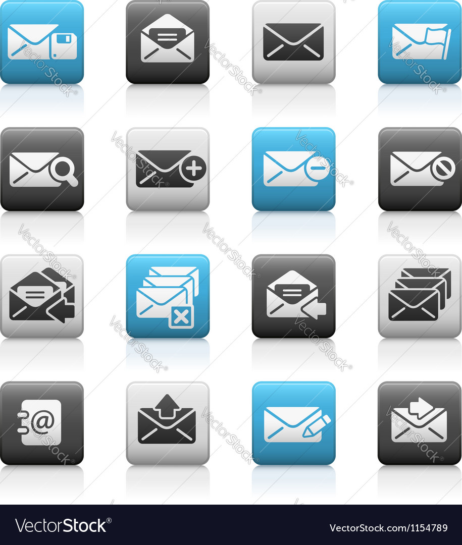 E-mail icons matte series vector | Price: 1 Credit (USD $1)