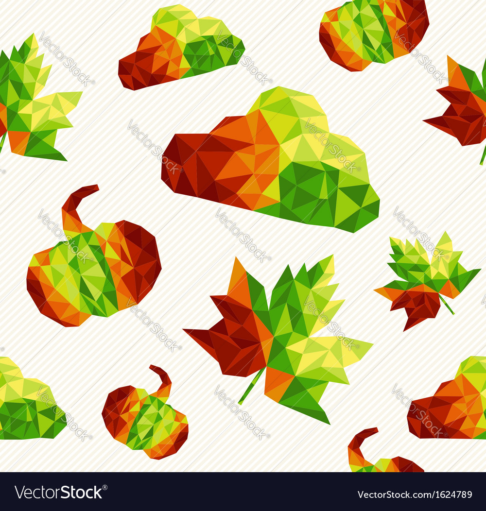Geometric fall elements seamless pattern vector   Price: 1 Credit (USD $1)