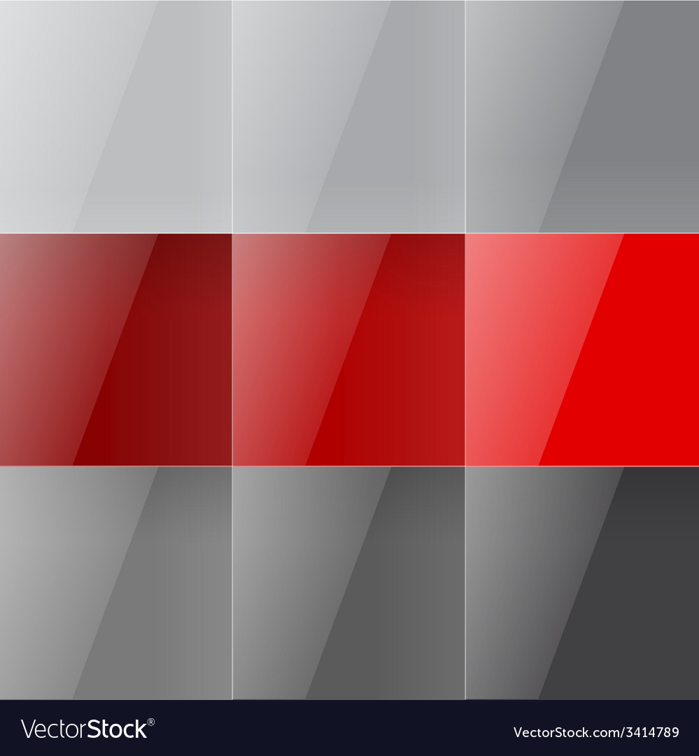 Gray and red shiny squares abstract background vector | Price: 1 Credit (USD $1)