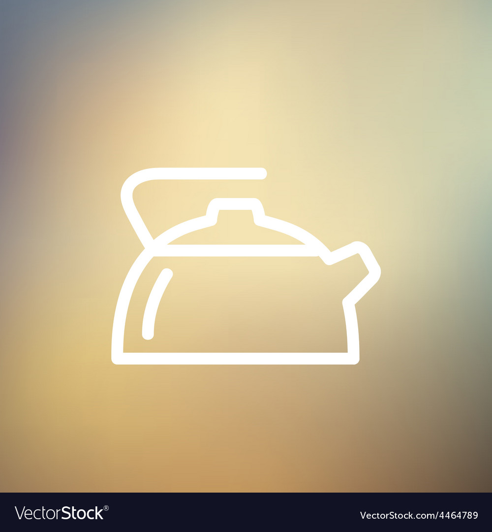 Kettle thin line icon vector | Price: 1 Credit (USD $1)