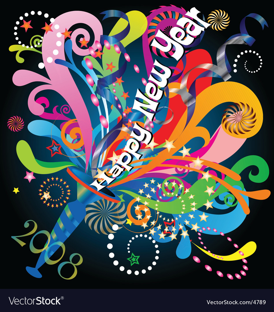 New year celebration 2008 vector | Price: 1 Credit (USD $1)