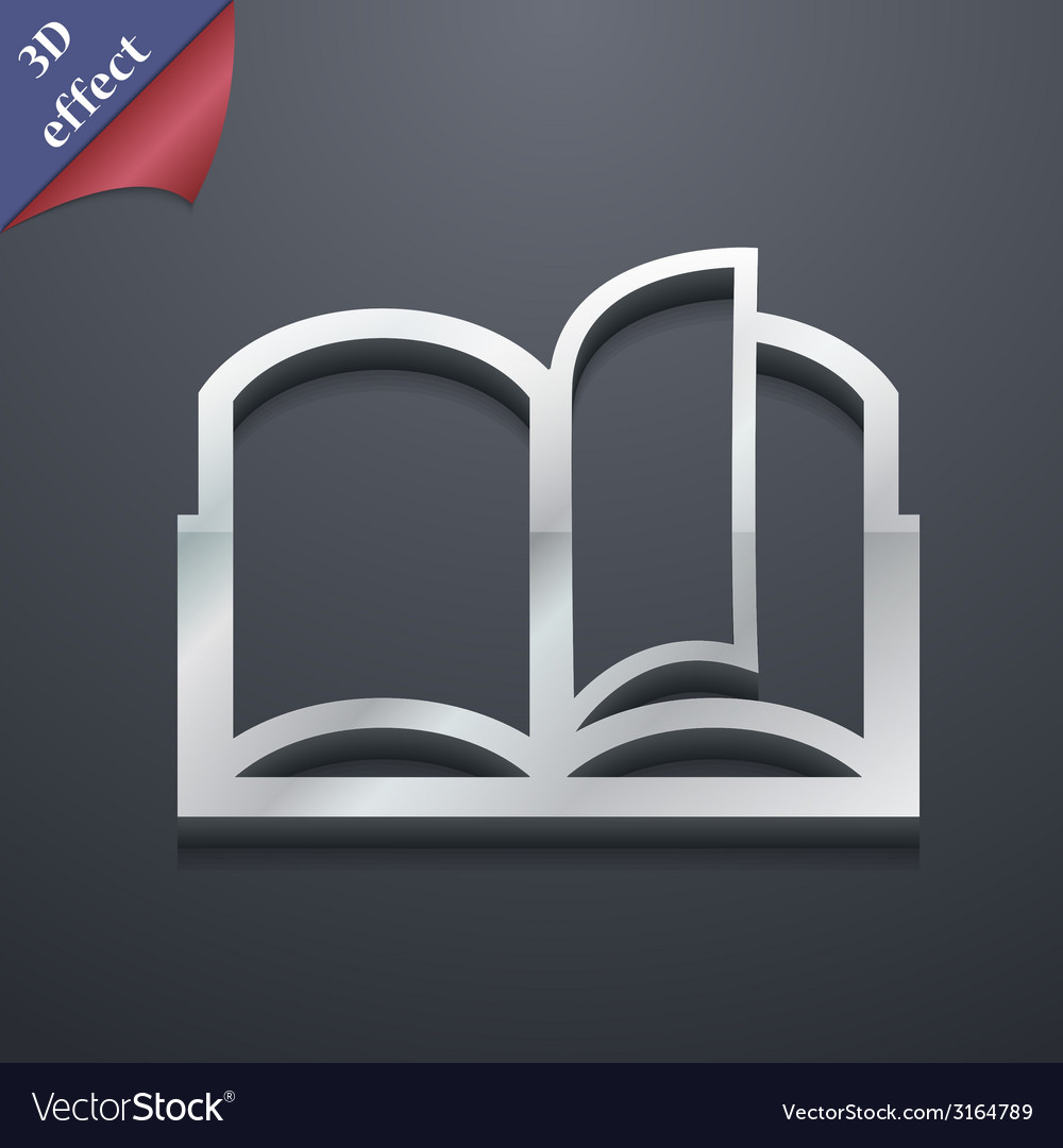 Open book icon symbol 3d style trendy modern vector | Price: 1 Credit (USD $1)