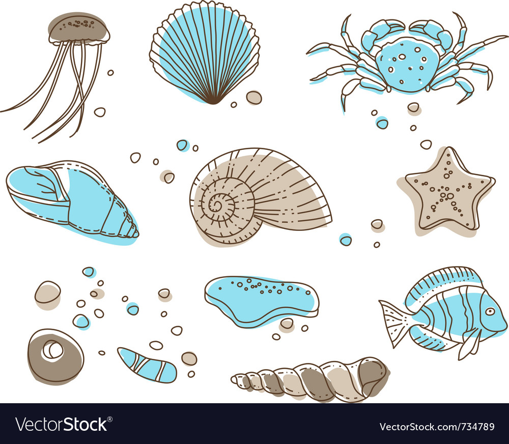Sea collection vector | Price: 1 Credit (USD $1)