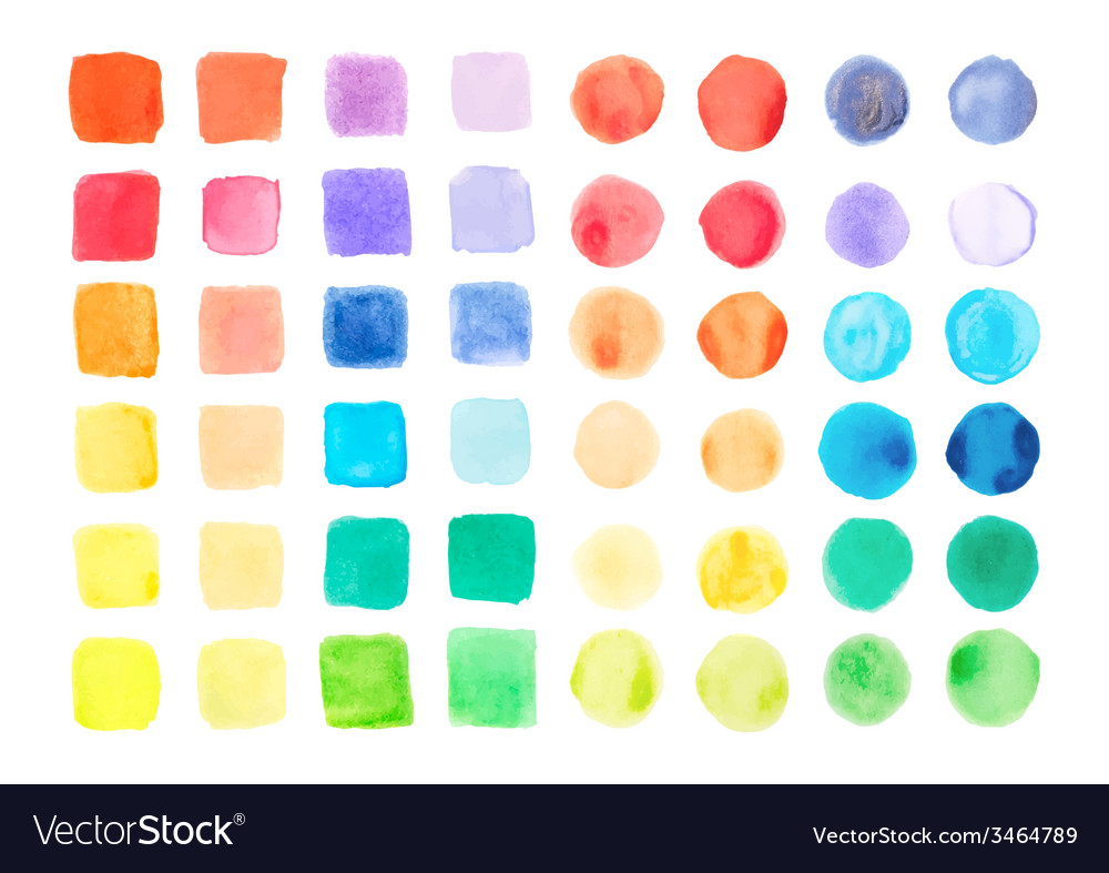 Watercolor paints palette vector | Price: 1 Credit (USD $1)