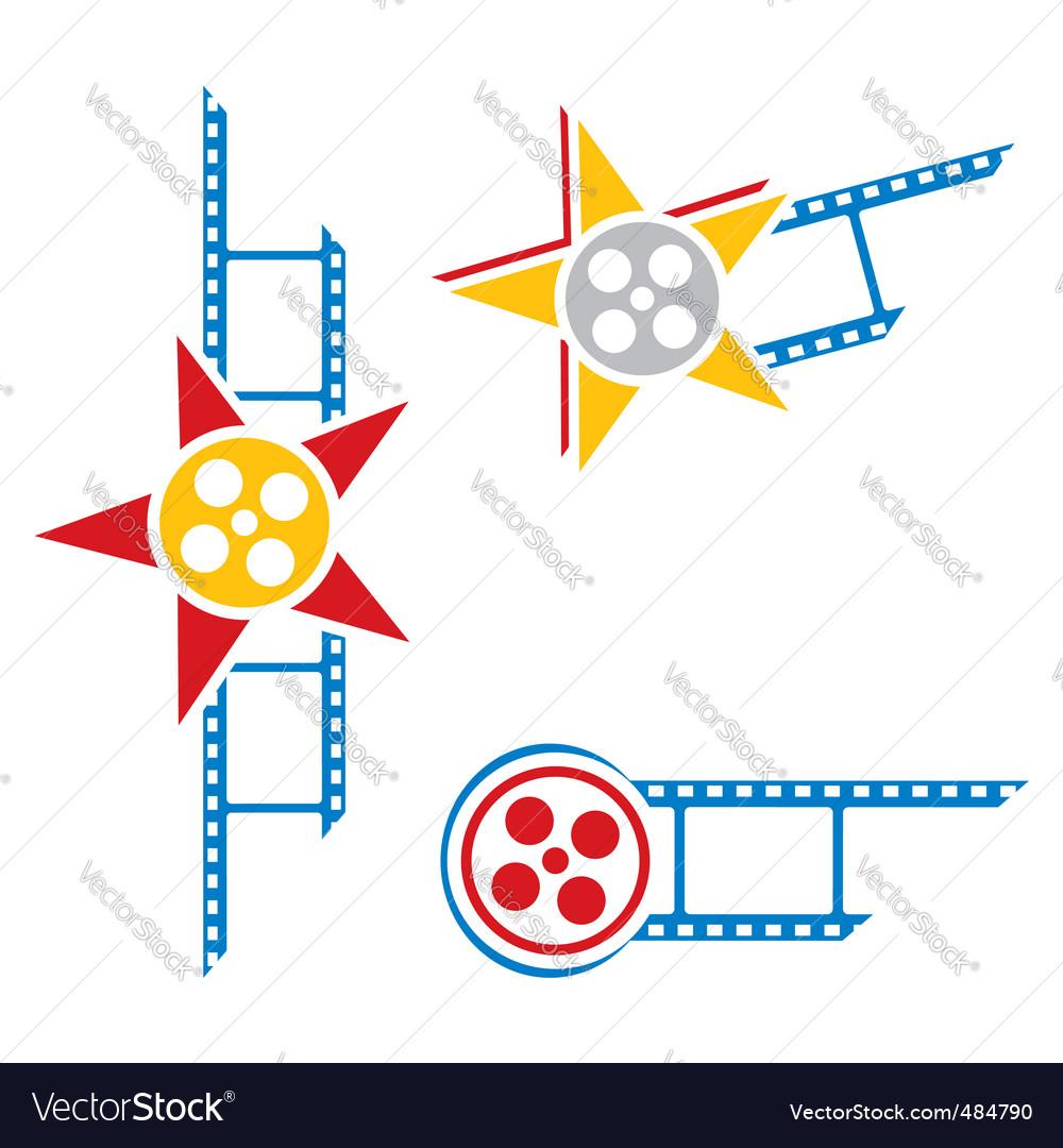 Film symbols vector | Price: 1 Credit (USD $1)