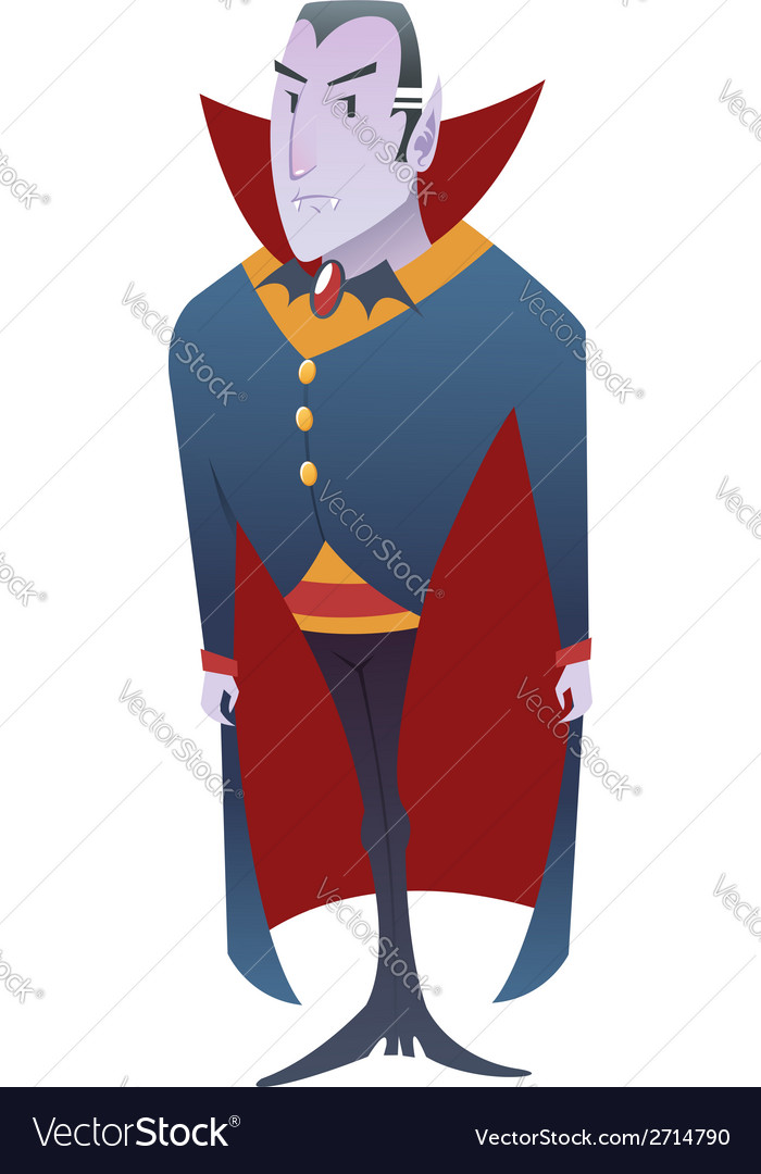 Funny cartoon dracula vampire character vector | Price: 1 Credit (USD $1)
