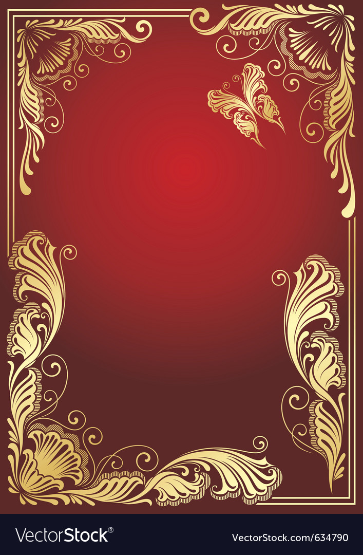 Golden floral vector | Price: 1 Credit (USD $1)